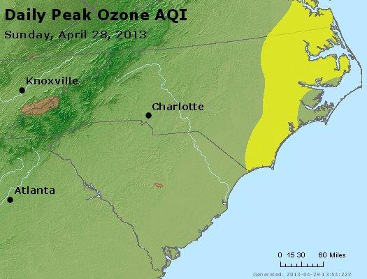 Peak Ozone (8-hour) - http://files.airnowtech.org/airnow/2013/20130428/peak_o3_nc_sc.jpg