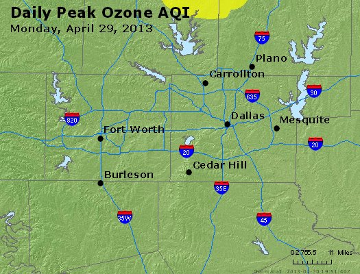Peak Ozone (8-hour) - http://files.airnowtech.org/airnow/2013/20130429/peak_o3_dallas_tx.jpg
