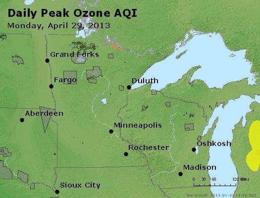 Peak Ozone (8-hour) - http://files.airnowtech.org/airnow/2013/20130429/peak_o3_mn_wi.jpg