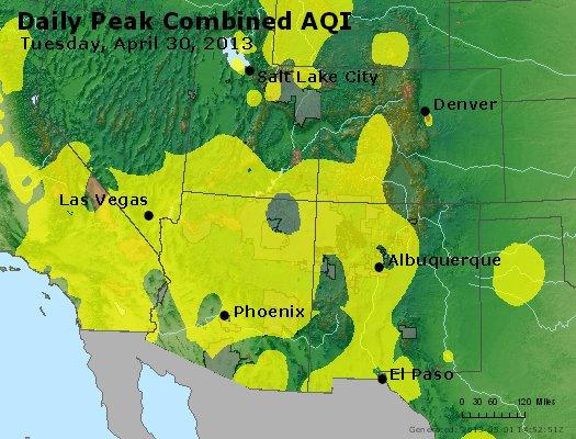 Peak AQI - http://files.airnowtech.org/airnow/2013/20130430/peak_aqi_co_ut_az_nm.jpg