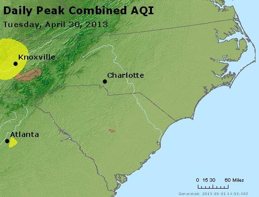 Peak AQI - http://files.airnowtech.org/airnow/2013/20130430/peak_aqi_nc_sc.jpg
