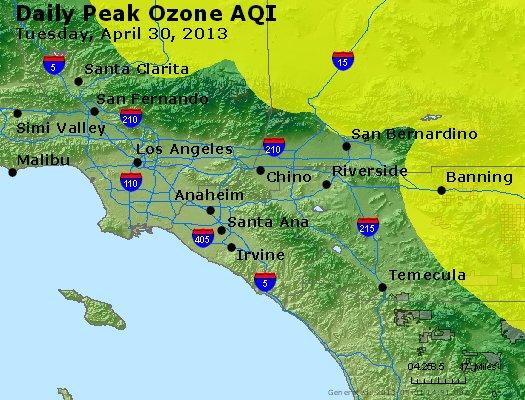 Peak Ozone (8-hour) - http://files.airnowtech.org/airnow/2013/20130430/peak_o3_losangeles_ca.jpg