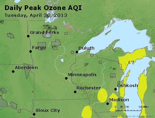 Peak Ozone (8-hour) - http://files.airnowtech.org/airnow/2013/20130430/peak_o3_mn_wi.jpg