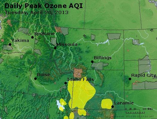 Peak Ozone (8-hour) - http://files.airnowtech.org/airnow/2013/20130430/peak_o3_mt_id_wy.jpg