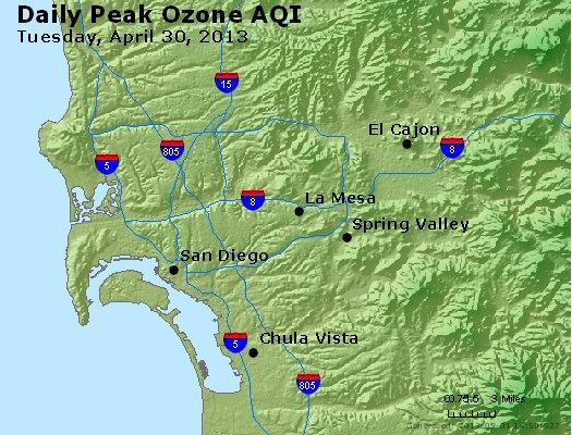 Peak Ozone (8-hour) - http://files.airnowtech.org/airnow/2013/20130430/peak_o3_sandiego_ca.jpg