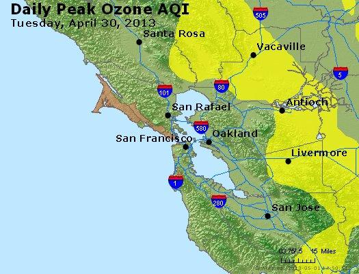 Peak Ozone (8-hour) - http://files.airnowtech.org/airnow/2013/20130430/peak_o3_sanfrancisco_ca.jpg