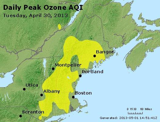 Peak Ozone (8-hour) - http://files.airnowtech.org/airnow/2013/20130430/peak_o3_vt_nh_ma_ct_ri_me.jpg