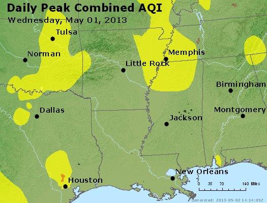 Peak AQI - http://files.airnowtech.org/airnow/2013/20130501/peak_aqi_ar_la_ms.jpg
