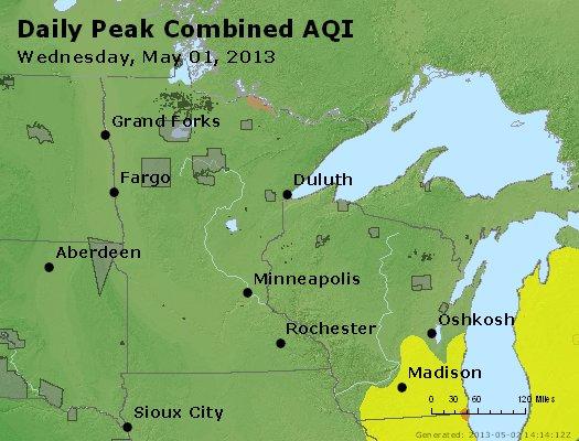 Peak AQI - http://files.airnowtech.org/airnow/2013/20130501/peak_aqi_mn_wi.jpg
