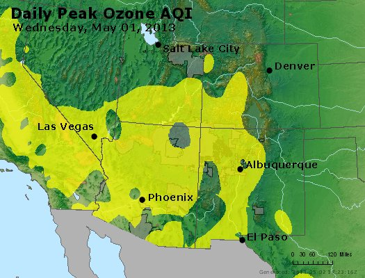 Peak Ozone (8-hour) - http://files.airnowtech.org/airnow/2013/20130501/peak_o3_co_ut_az_nm.jpg