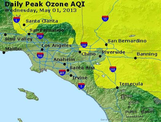 Peak Ozone (8-hour) - http://files.airnowtech.org/airnow/2013/20130501/peak_o3_losangeles_ca.jpg