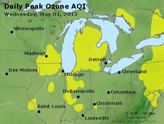 Peak Ozone (8-hour) - http://files.airnowtech.org/airnow/2013/20130501/peak_o3_mi_in_oh.jpg
