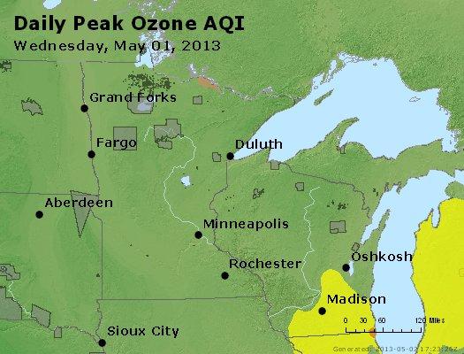 Peak Ozone (8-hour) - http://files.airnowtech.org/airnow/2013/20130501/peak_o3_mn_wi.jpg