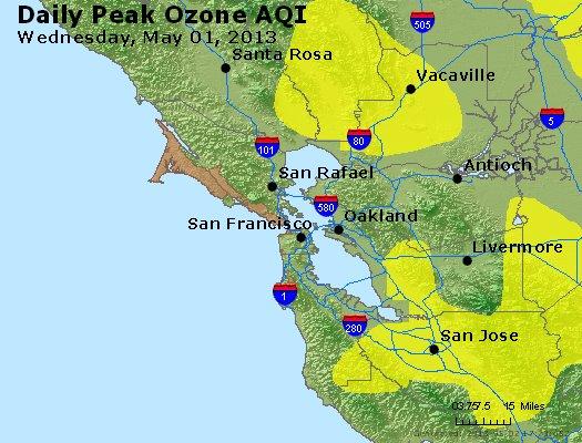 Peak Ozone (8-hour) - http://files.airnowtech.org/airnow/2013/20130501/peak_o3_sanfrancisco_ca.jpg