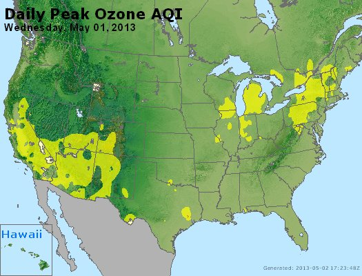 Peak Ozone (8-hour) - http://files.airnowtech.org/airnow/2013/20130501/peak_o3_usa.jpg
