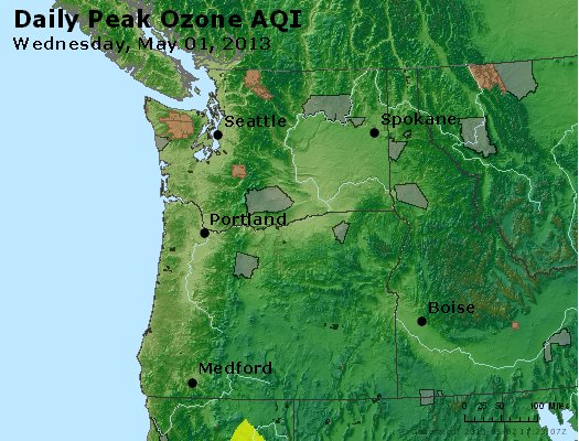 Peak Ozone (8-hour) - http://files.airnowtech.org/airnow/2013/20130501/peak_o3_wa_or.jpg