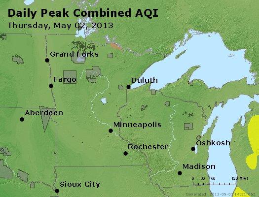 Peak AQI - http://files.airnowtech.org/airnow/2013/20130502/peak_aqi_mn_wi.jpg