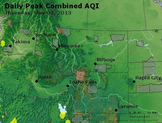 Peak AQI - http://files.airnowtech.org/airnow/2013/20130502/peak_aqi_mt_id_wy.jpg