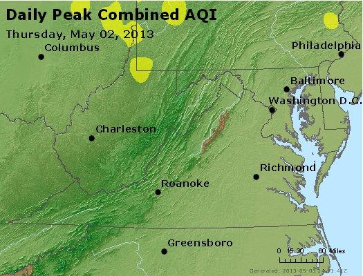 Peak AQI - http://files.airnowtech.org/airnow/2013/20130502/peak_aqi_va_wv_md_de_dc.jpg