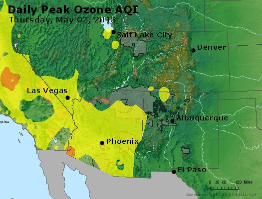 Peak Ozone (8-hour) - http://files.airnowtech.org/airnow/2013/20130502/peak_o3_co_ut_az_nm.jpg