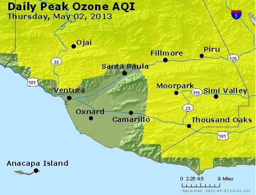 Peak Ozone (8-hour) - http://files.airnowtech.org/airnow/2013/20130502/peak_o3_ventura.jpg