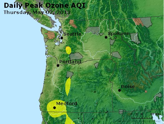 Peak Ozone (8-hour) - http://files.airnowtech.org/airnow/2013/20130502/peak_o3_wa_or.jpg