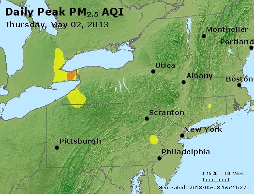 Peak Particles PM<sub>2.5</sub> (24-hour) - http://files.airnowtech.org/airnow/2013/20130502/peak_pm25_ny_pa_nj.jpg