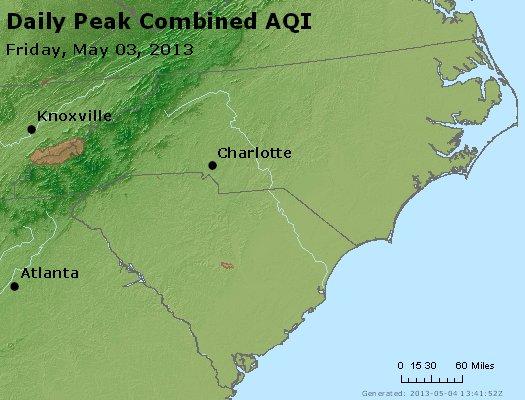 Peak AQI - http://files.airnowtech.org/airnow/2013/20130503/peak_aqi_nc_sc.jpg