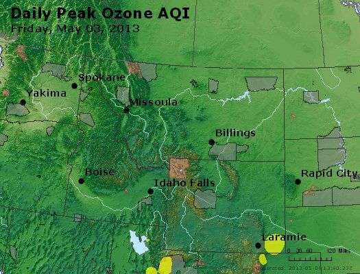 Peak Ozone (8-hour) - http://files.airnowtech.org/airnow/2013/20130503/peak_o3_mt_id_wy.jpg
