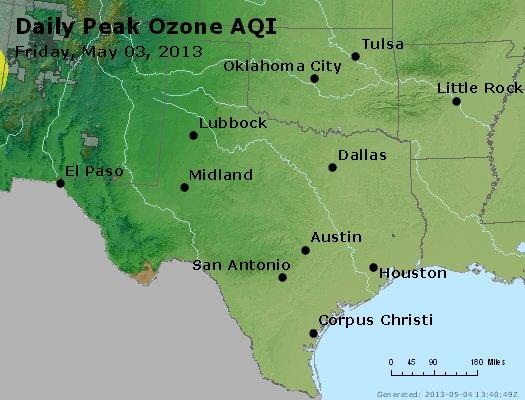 Peak Ozone (8-hour) - http://files.airnowtech.org/airnow/2013/20130503/peak_o3_tx_ok.jpg