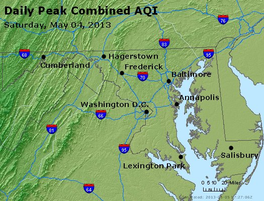 Peak AQI - http://files.airnowtech.org/airnow/2013/20130504/peak_aqi_maryland.jpg