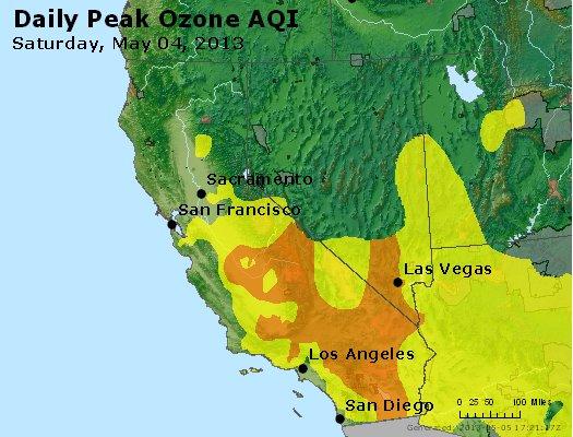 Peak Ozone (8-hour) - http://files.airnowtech.org/airnow/2013/20130504/peak_o3_ca_nv.jpg