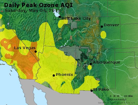 Peak Ozone (8-hour) - http://files.airnowtech.org/airnow/2013/20130504/peak_o3_co_ut_az_nm.jpg