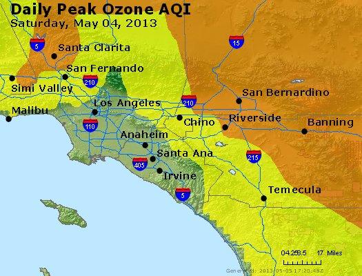 Peak Ozone (8-hour) - http://files.airnowtech.org/airnow/2013/20130504/peak_o3_losangeles_ca.jpg