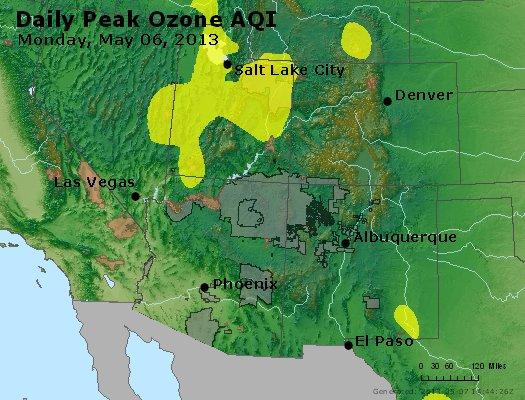 Peak Ozone (8-hour) - http://files.airnowtech.org/airnow/2013/20130506/peak_o3_co_ut_az_nm.jpg