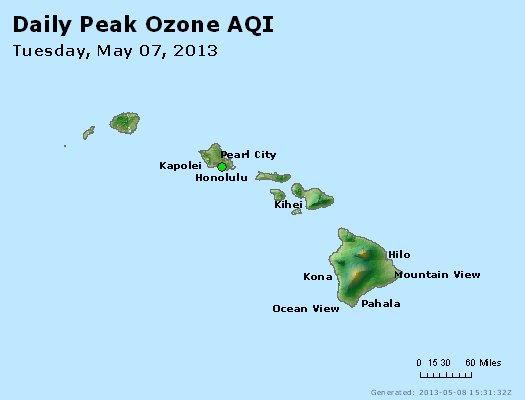 Peak Ozone (8-hour) - http://files.airnowtech.org/airnow/2013/20130507/peak_o3_hawaii.jpg