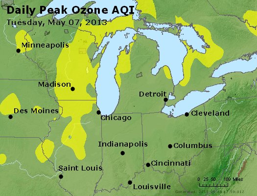 Peak Ozone (8-hour) - http://files.airnowtech.org/airnow/2013/20130507/peak_o3_mi_in_oh.jpg