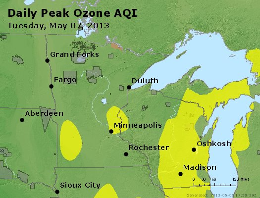 Peak Ozone (8-hour) - http://files.airnowtech.org/airnow/2013/20130507/peak_o3_mn_wi.jpg
