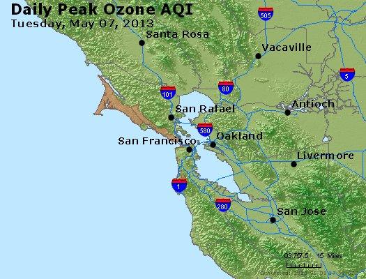 Peak Ozone (8-hour) - http://files.airnowtech.org/airnow/2013/20130507/peak_o3_sanfrancisco_ca.jpg