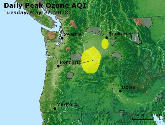 Peak Ozone (8-hour) - http://files.airnowtech.org/airnow/2013/20130507/peak_o3_wa_or.jpg