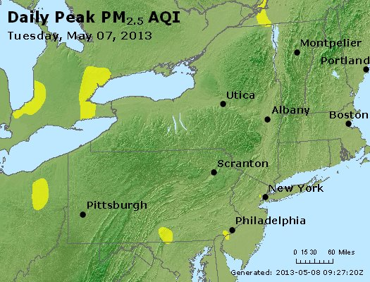 Peak Particles PM<sub>2.5</sub> (24-hour) - http://files.airnowtech.org/airnow/2013/20130507/peak_pm25_ny_pa_nj.jpg