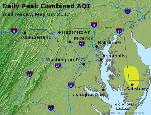 Peak AQI - http://files.airnowtech.org/airnow/2013/20130508/peak_aqi_maryland.jpg