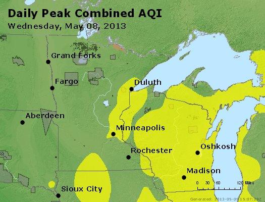 Peak AQI - http://files.airnowtech.org/airnow/2013/20130508/peak_aqi_mn_wi.jpg