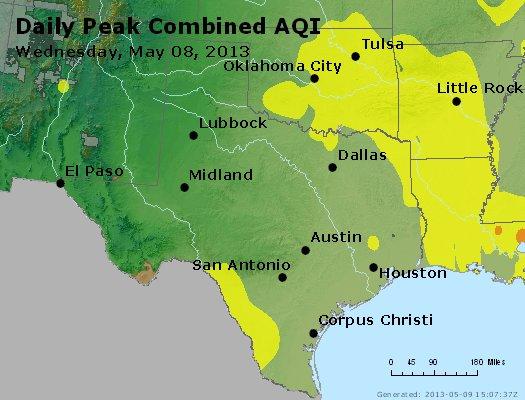 Peak AQI - http://files.airnowtech.org/airnow/2013/20130508/peak_aqi_tx_ok.jpg