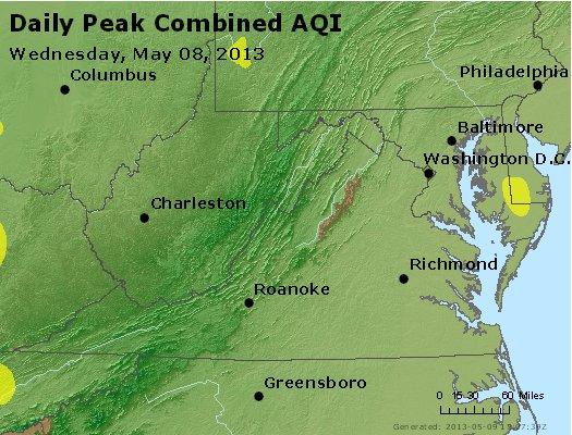 Peak AQI - http://files.airnowtech.org/airnow/2013/20130508/peak_aqi_va_wv_md_de_dc.jpg