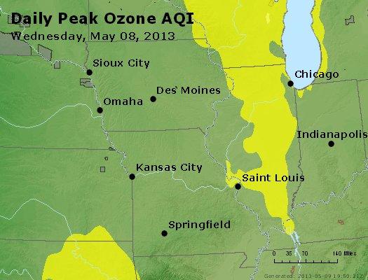 Peak Ozone (8-hour) - http://files.airnowtech.org/airnow/2013/20130508/peak_o3_ia_il_mo.jpg