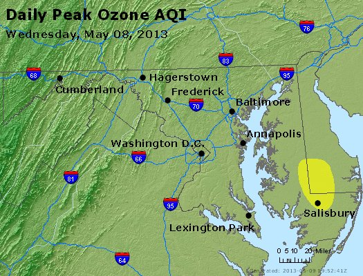 Peak Ozone (8-hour) - http://files.airnowtech.org/airnow/2013/20130508/peak_o3_maryland.jpg