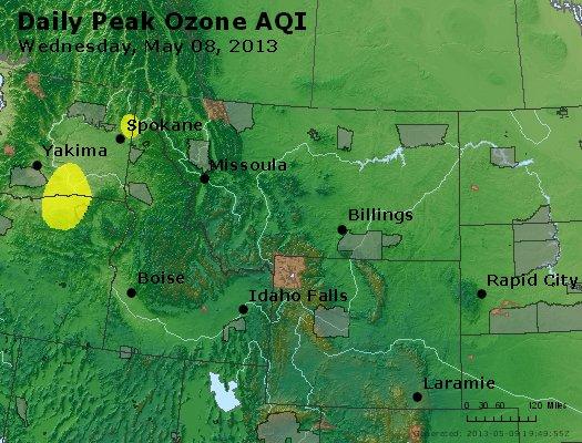 Peak Ozone (8-hour) - http://files.airnowtech.org/airnow/2013/20130508/peak_o3_mt_id_wy.jpg
