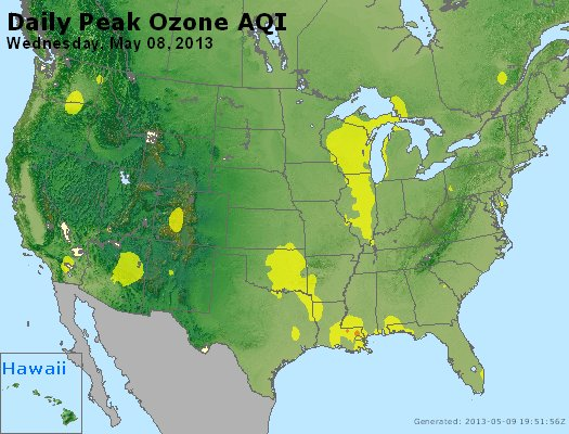 Peak Ozone (8-hour) - http://files.airnowtech.org/airnow/2013/20130508/peak_o3_usa.jpg