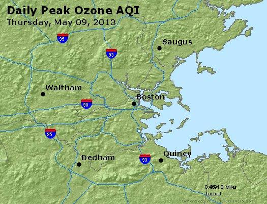 Peak Ozone (8-hour) - http://files.airnowtech.org/airnow/2013/20130509/peak_o3_boston_ma.jpg